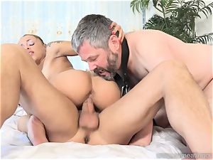 Holly Hendrix Cuckolds hubby and Makes Him eat jism