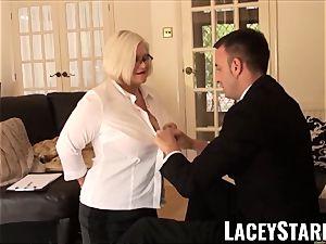 LACEYSTARR - enslaved GILF arse slammed by Pascal milky