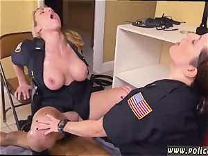 stud plumbs real cop and milf loves to gonzo ebony masculine squatting in home gets our cougar