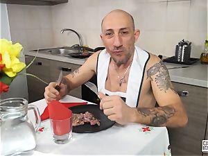 audition ALLA ITALIANA - rectal casting with stunning Italian