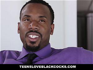 TLBC - dark-haired nubile boinks boss For elevate