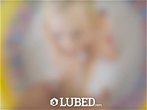 lubricated light-haired Bailey Brooke plowed in baby pool