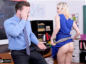 Cheerleader Chloe Couture plows her dearest educator