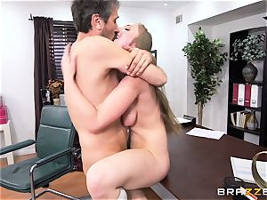 kinky student Lena Paul torn up by headmaster