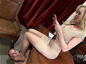 kinky huge bosses Headmistress Brandi enjoy dominates her employee in the office