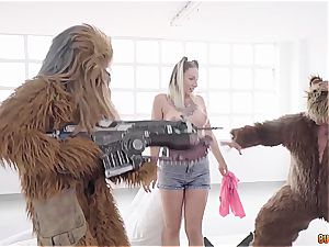Spanish mega-slut Yuno love gets nailed by Chewbacca, Yoda and an ewok