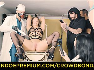 CROWD restrain bondage subordinated Amirah Adara very first time bondage & discipline