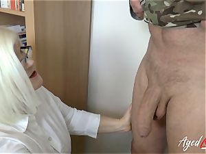AgedLovE Lacey Starr screwing rigid with Soldier