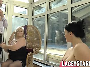LACEYSTARR - Pascal penetrating Lacey Starr and her friend