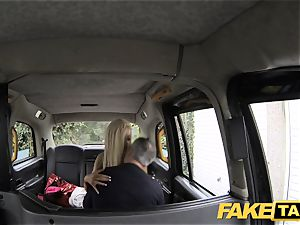 fake cab skinny platinum-blonde with small ass gets ass-fuck bang-out