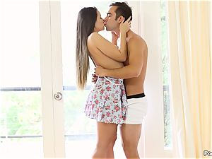 Cassidy Klein puts on a solo demonstrate for her boy