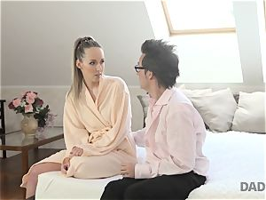 DADDY4K. Pretty nubile adorably romped by bf s father after morning shower