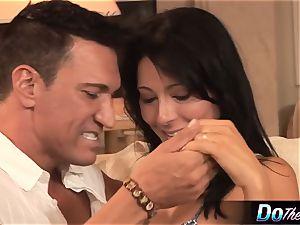 milky wife takes milky boner in front of ebony spouse