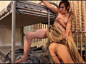 Natasha Starr eats on her accomplices humid vagina