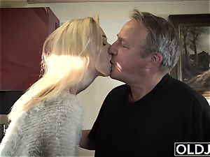 youthful aged porno Martha gives grandfather a dirty dt
