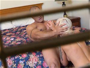 crazy Nina Elle boinks her man at the motel