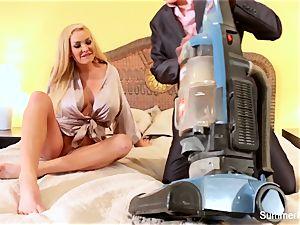 blondie housewife Summer drills stunning salesman Lily