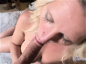 Devon Lee is liking her man's whip inserted in her mouth-watering throat
