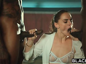 BLACKED Tori black Is well-lubed Up And predominated By 2 BBCs
