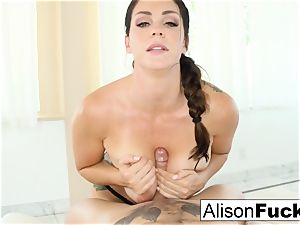 Alison Tyler gives a cool fellate job with boob plowing