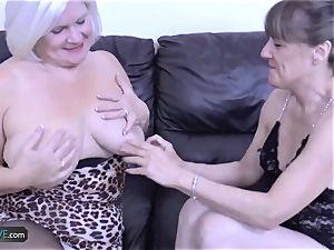 AgedLovE Mature ash-blonde Lacey Starr hard-core poke