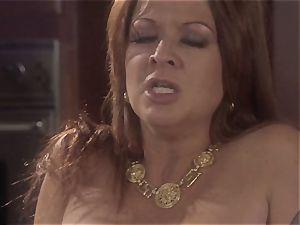 mummy stunner Raquel Devine splashes this lucky guy