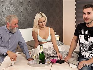 DADDY4K. nymph rides aged gentleman s joystick in daddy pornography flick