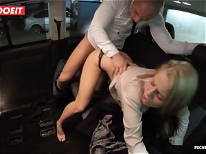LETSDOEIT - steaming light-haired seduces and porks Uber Driver