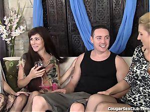 3 sexy mummies Have ultra-kinky lovemaking With 1 stud