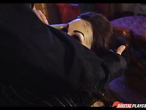 Tina kay has ample geyser on her fabulous nice face from frankenstein