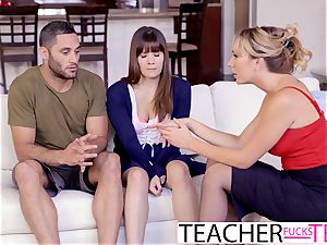 red-hot tutor Tricks students Into threeway pulverize