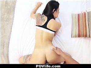 fantastic Latina Gina Valentina point of view fucking