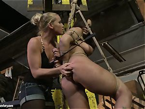 Kathia Nobili smacking the arse of molten gal with crop