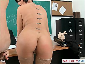 cougar in glasses Shay Fox ravage in class