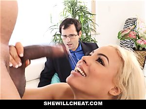 SheWillCheat - Latina wife Creampied By big black cock