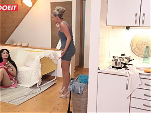 Step dad helps daughter-in-law tidy his jism instead of room