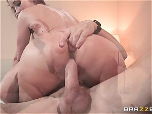 Monique Alexander packed nuts deep in her cock-squeezing muffhole