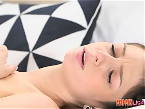 stunning milfy mother Aaliyah love mesmerized by the pierced puffies of Aspen Ora