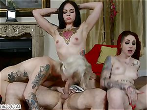 emo supersluts Kleio Valentien, Sheena Rose And Necro Nicki in swinger hookup