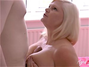 AgedLovE hard-core bang-out with Mature Lacey Starr