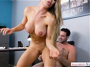 Nicole Aniston drilling at work