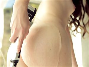Alice March gets mischievous when she showers