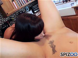 Lisa Ann plumbing Janessa Jordan with a fake penis
