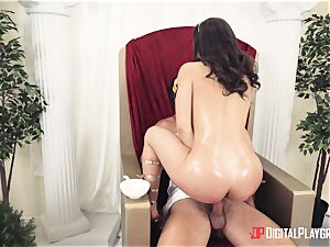 marvelous mega-slut banged in the booty at a costume soiree