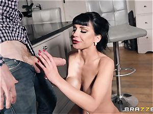 pipe penetrating Valentina Ricci