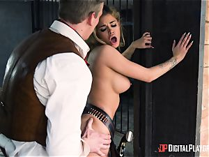 Western cunt fucking with Jessa Rhodes and Misha Cross