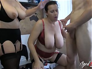 AgedLovE Lacey Starr Eva and Marcus threeway