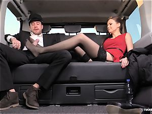 romped IN TRAFFIC - brit Tina Kay plowed in the car