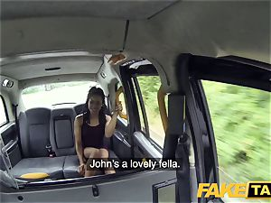 fake cab rapid porking and creampie for peachy ass