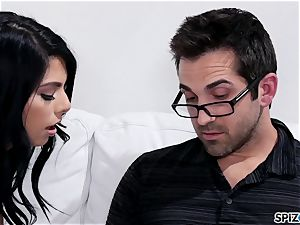 Spizoo - Gina Valentina taking her step father's man-meat